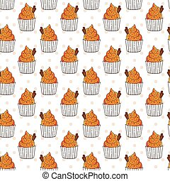 Vector Muffins Seamless Pattern