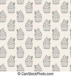 Vector Muffins Seamless Pattern