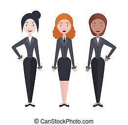 vector, mujer de negocios