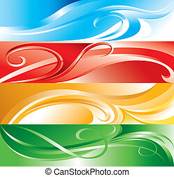 Vector multicolor flourish background for you design