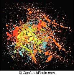 Vector multicolored splatters.
