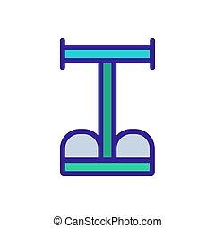 vector, multifunctional, ilustración, expander, icono, contorno