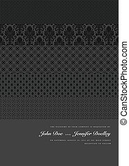 Vector Multiple Patterns Background. Easy to edit. Perfect for invitations or announcements.