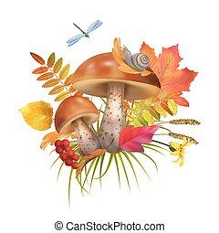 Vector Mushroom Illustration
