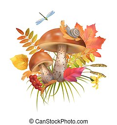 Vector Mushroom Illustration