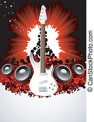 Vector music background; clip-art