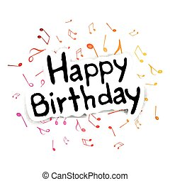 Vector Music Background - Vector Illustration of a Birthday...