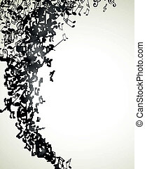 Vector Music Background with Notes