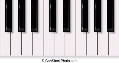 Vector music design element. Piano keyboard isolated on white background.