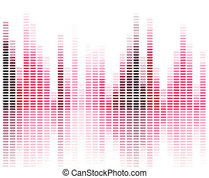 Vector Music Equalizer - Vector Illustration of a Music ...