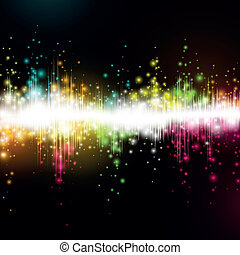 Vector music equalizer wave - Vector illustration of a music...