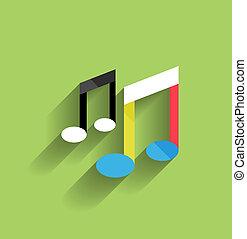 Vector music icon flat modern design