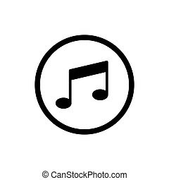 Vector music Icon. Isolated on white background.