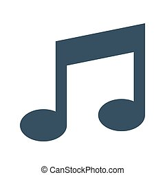Vector music Icon on white background.