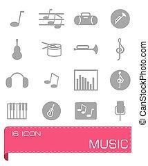 Vector Music icon set