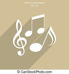 Vector music notes icon