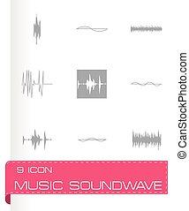 Vector music soundwave icons set