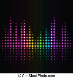 volume abstract background - Vector music volume abstract ...