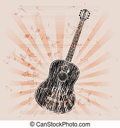 musical background acoustic guitar