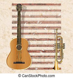 musical background guitar and trumpet