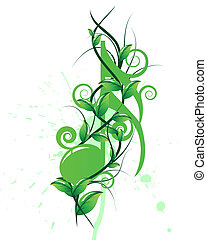 Vector musical notes staff background for design use