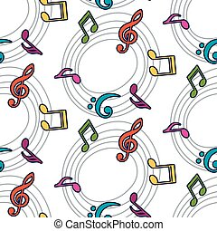 Vector musical pattern with notes