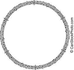Vector musical theme frame