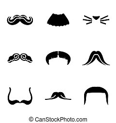 Vector Mustaches icon set