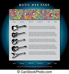 vector, muziek, website