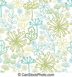 Mysterious green garden seamless pattern background