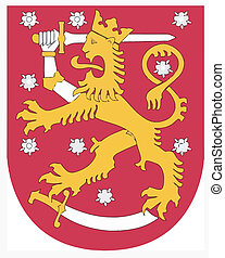 Vector national coat of arms of Fin