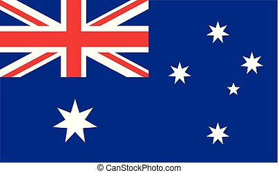 Vector national flag of Australia - Detail beautiful illustration