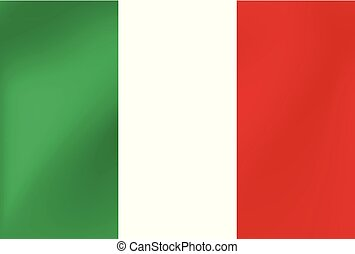 Vector national flag of Italy. Illustration for sports competition, traditional or state events.