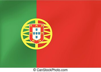 Vector national flag of Portugal. Illustration for sports competition, traditional or state events.