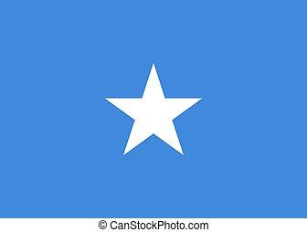 Vector national Somalia flag