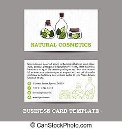 vector natural cosmetics shop business card template