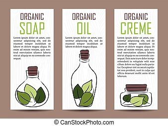vector natural cosmetics shop products card template