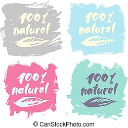 Vector natural organic eco product label - Vector natural...
