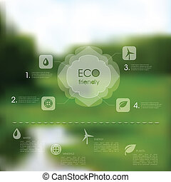 Vector natural template for eco website