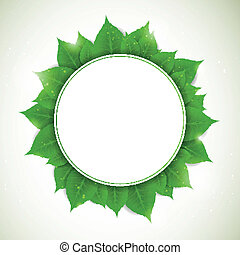 Vector Nature Background with Leaves