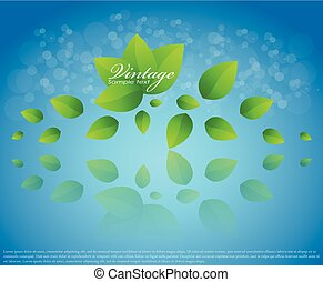 Vector nature background with leaves falling
