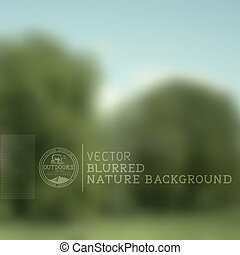 Vector Nature Blurry Background - A nature landscape blurred...