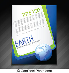 nature flyer brochure poster template design