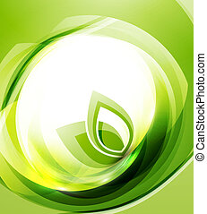 Vector nature wave abstract background