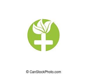 vector, natuur, gezondheid, logo