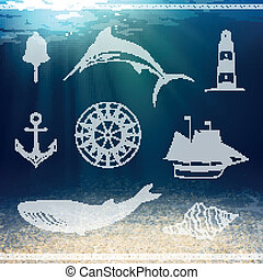 Vector Nautical Design Elements