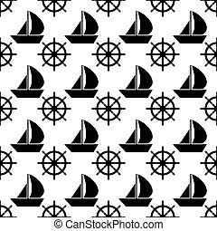 Vector nautical seamless pattern. Cute design.