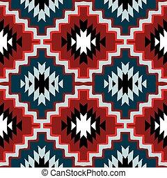 Vector navajo tribal ornament - Vector seamless ethnic...