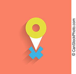 Vector navigation icon modern flat design
