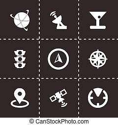 Vector navigation icons set